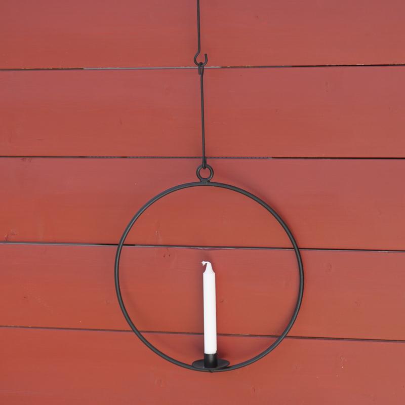 """kerzenhalter/leuchter """"ring"""", 100 % guss- bzw. schmiedeeisen, Ø ca 36 cm, spegels"""