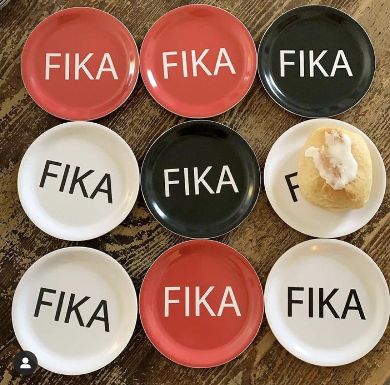 "untersetzer ""fika"", Ø 11 cm, gepresstes holz, i love design/citronelles"