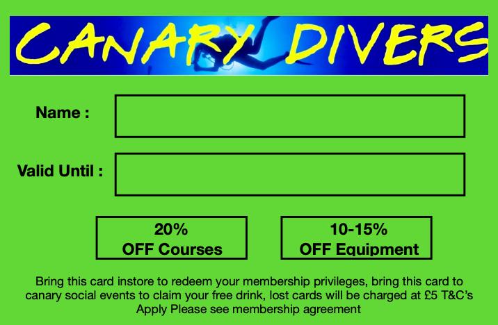 Youth Diver Membership