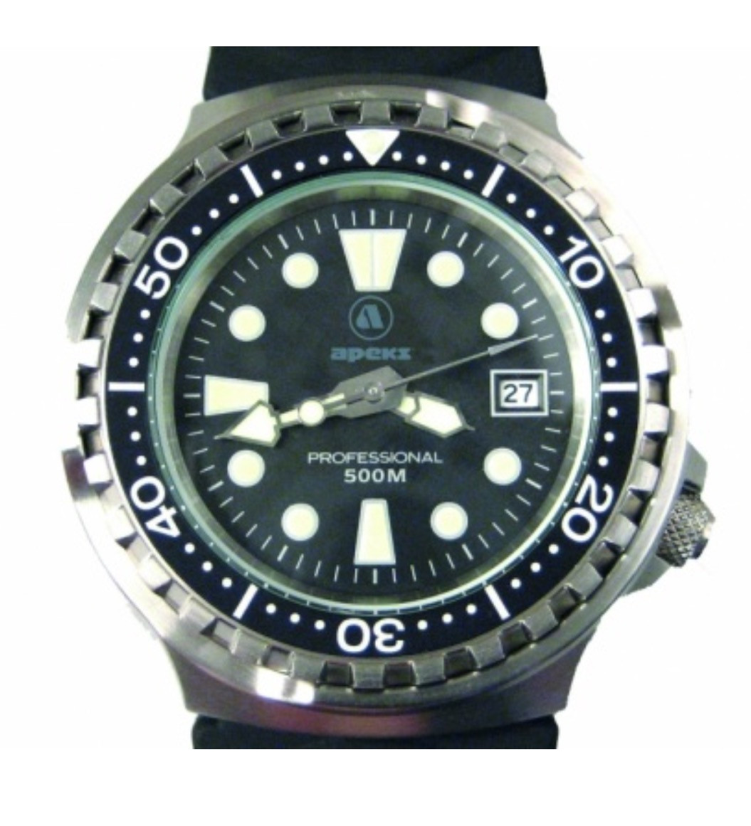 Apeks 500m Scuba Diving Watch in Presentation Case