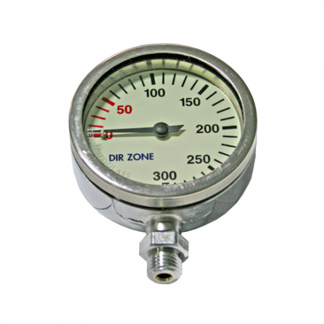 DIRZone 63mm 200 Bar Chrome Pressure Gauge