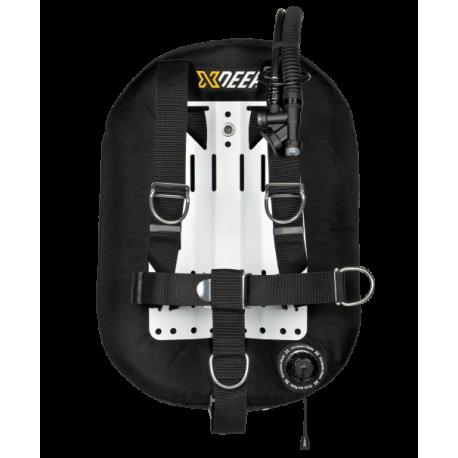 XDeep Zeos 28 Wing System, Silver Aluminium Backplate and One Piece Harness
