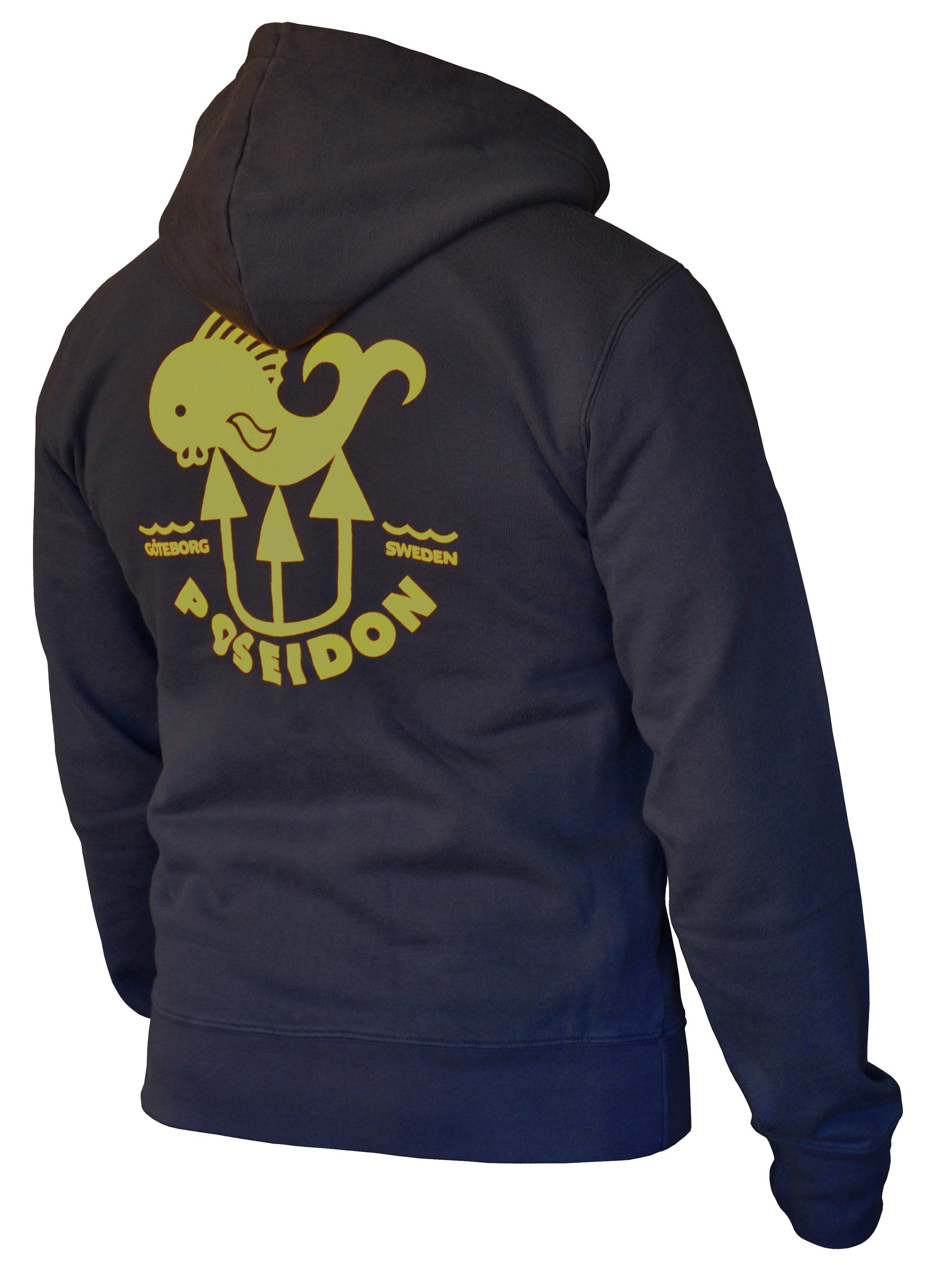 Poseidon Fish Zip Hooded Sweatshirt