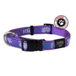 Rogz Purple Forest Adjustable Collar