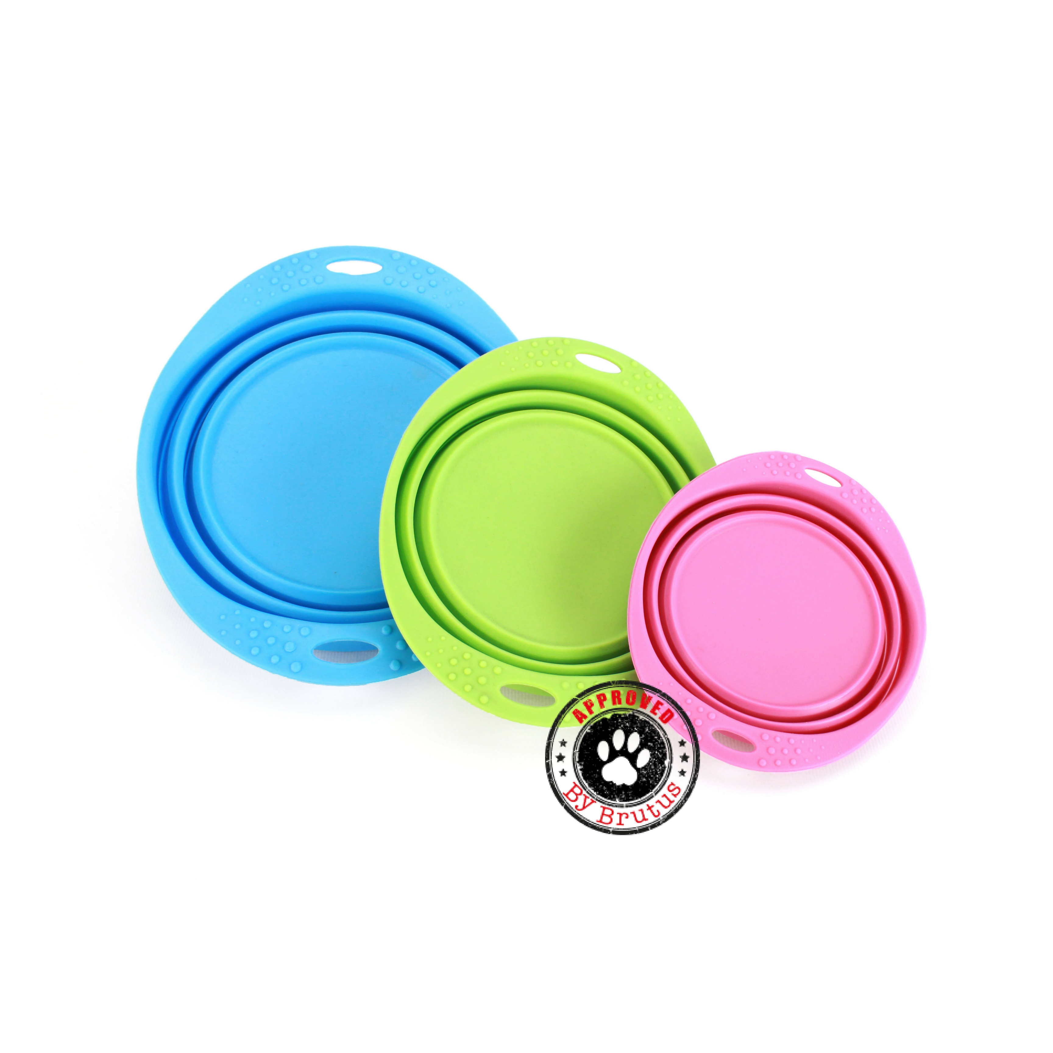 Green Collapsible Travel Bowl by Beco