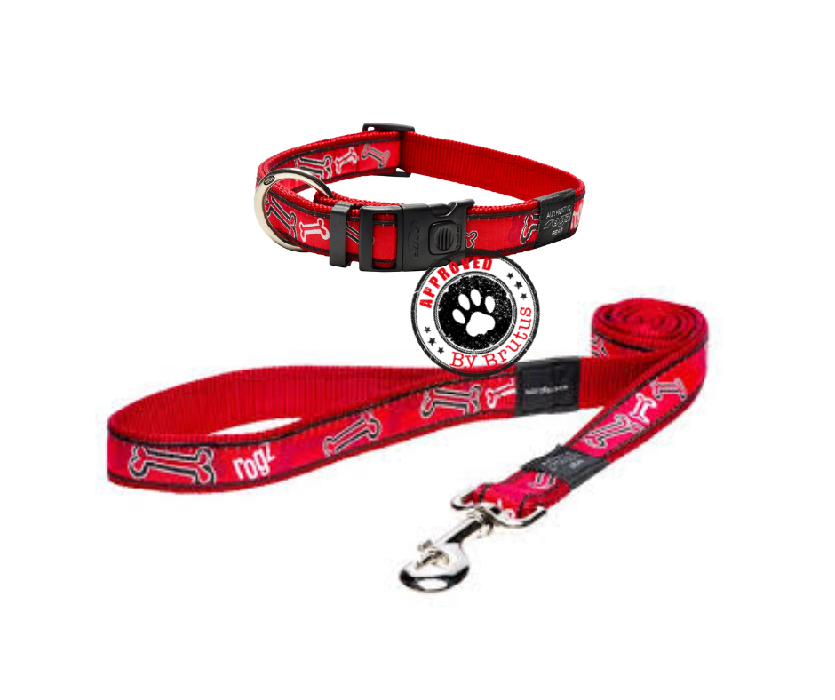 Rogz Adjustable Dog Collar And Matching Lead Set