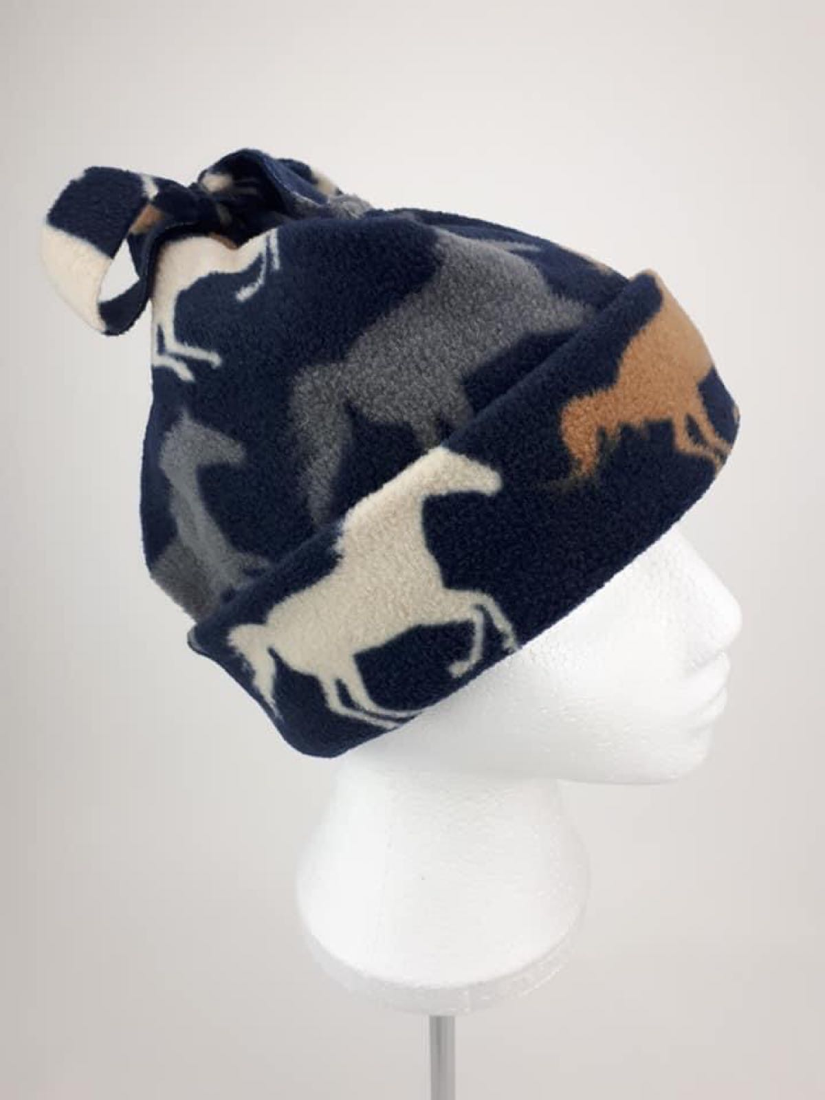 Navy Horses Hat