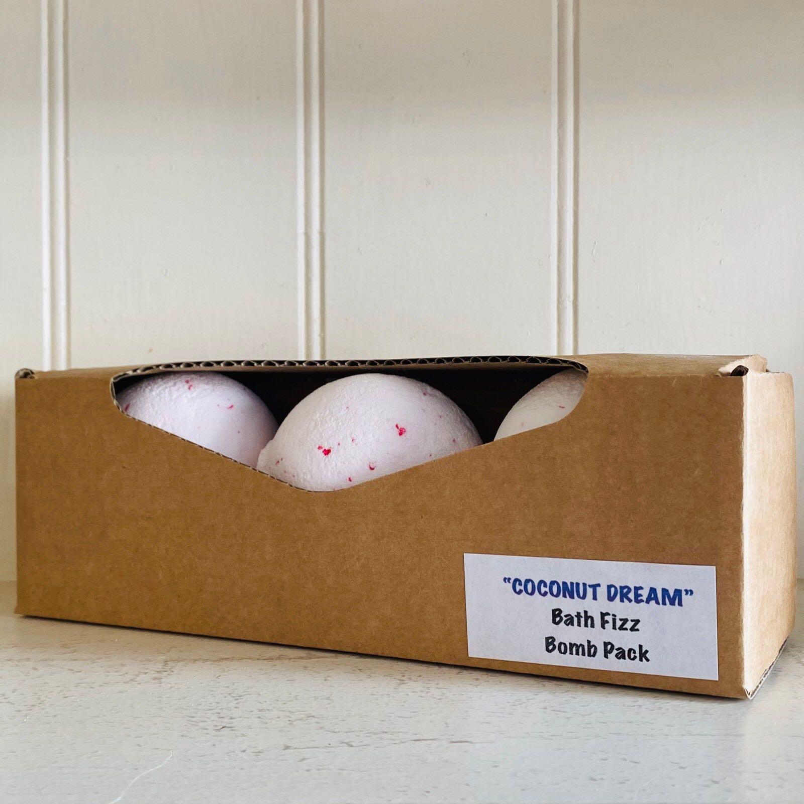 Coconut Dream Bath Fizz Bomb Pack