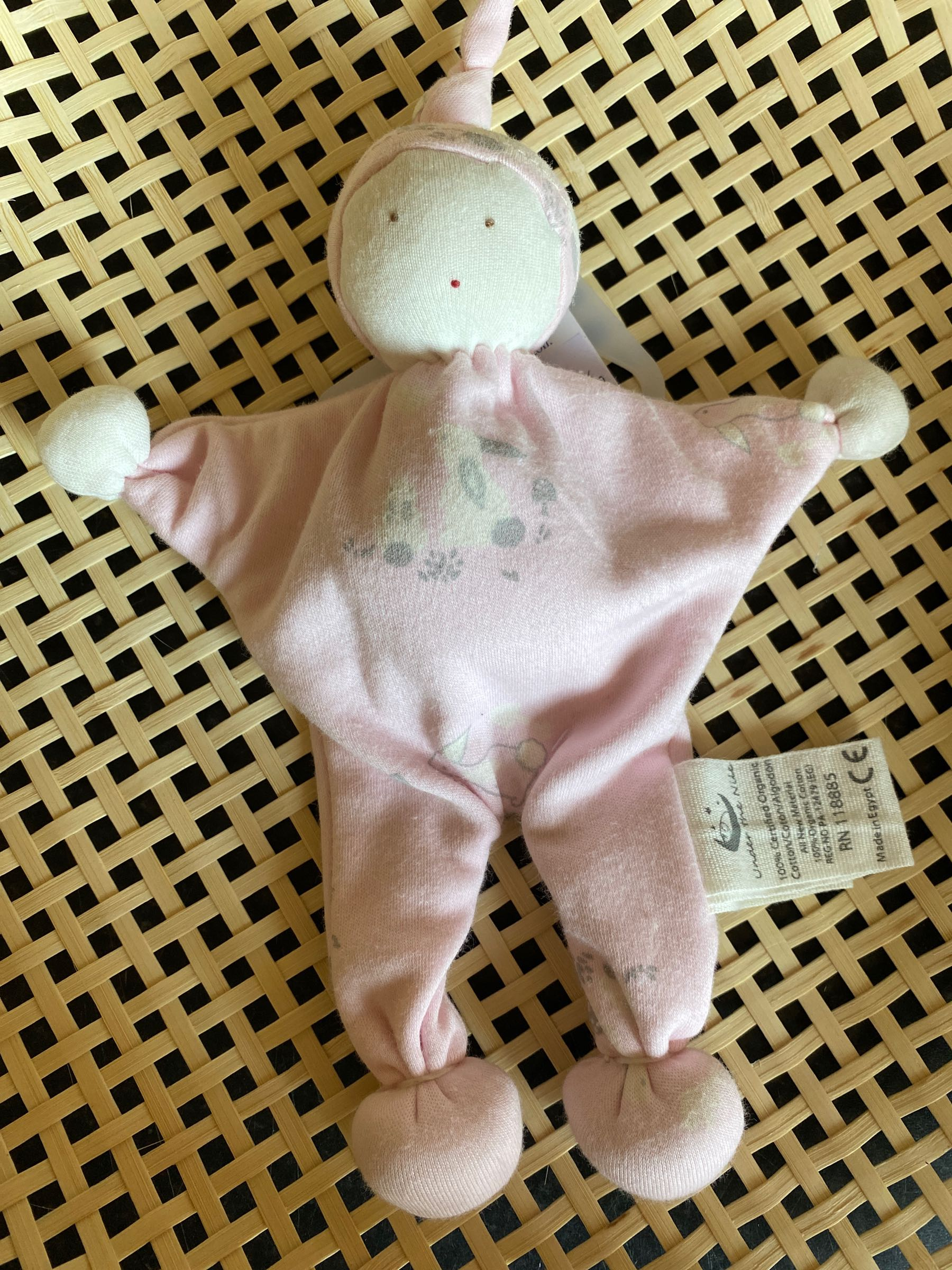 Under the Nile - Organic Baby Buddy - Cottontail pink