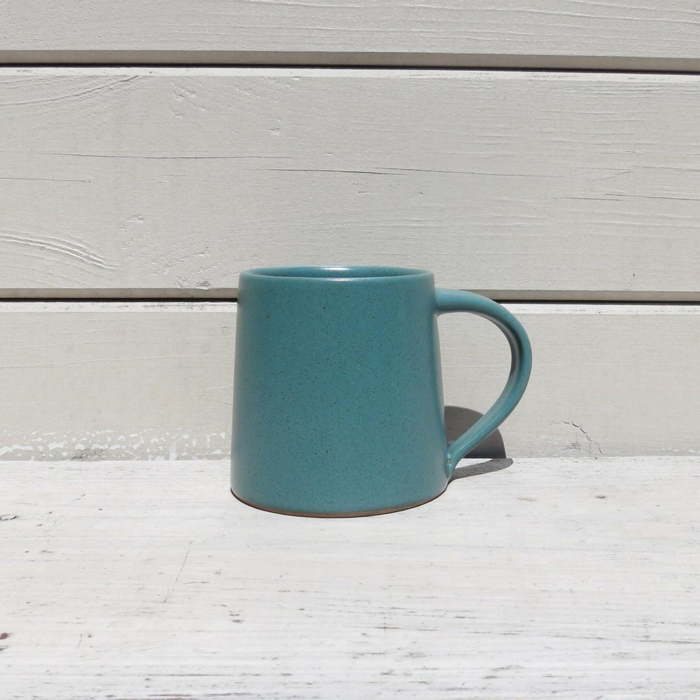 Stoneware Mug Teal Green