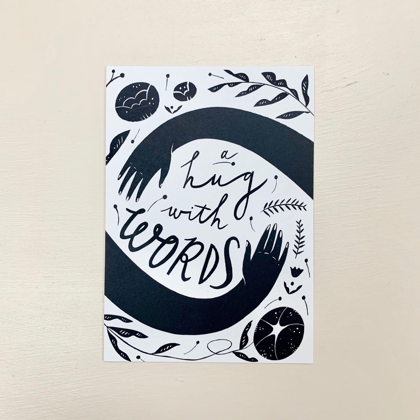 Hug With Words Postcard