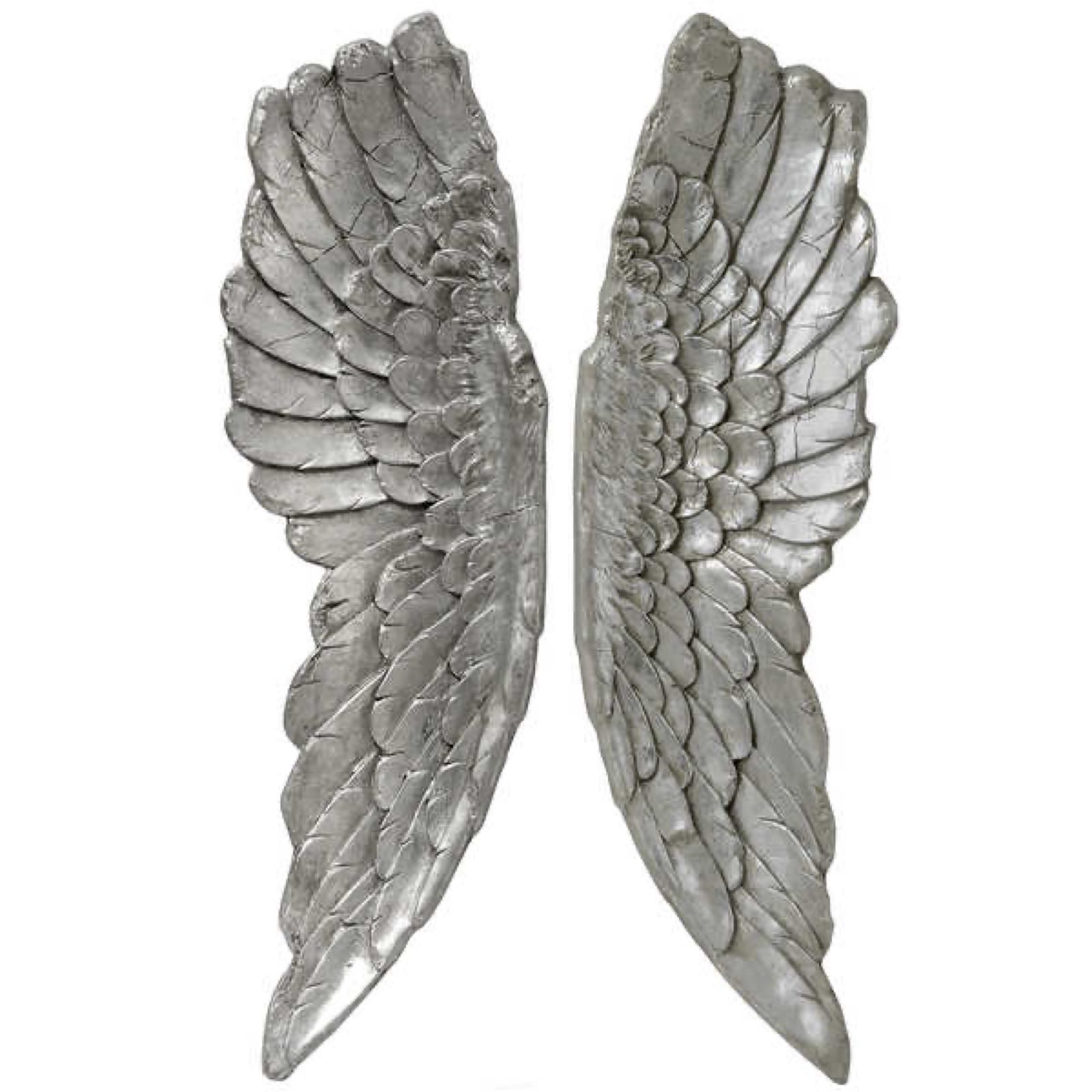 Large Silver Wings 104cm x 30cm