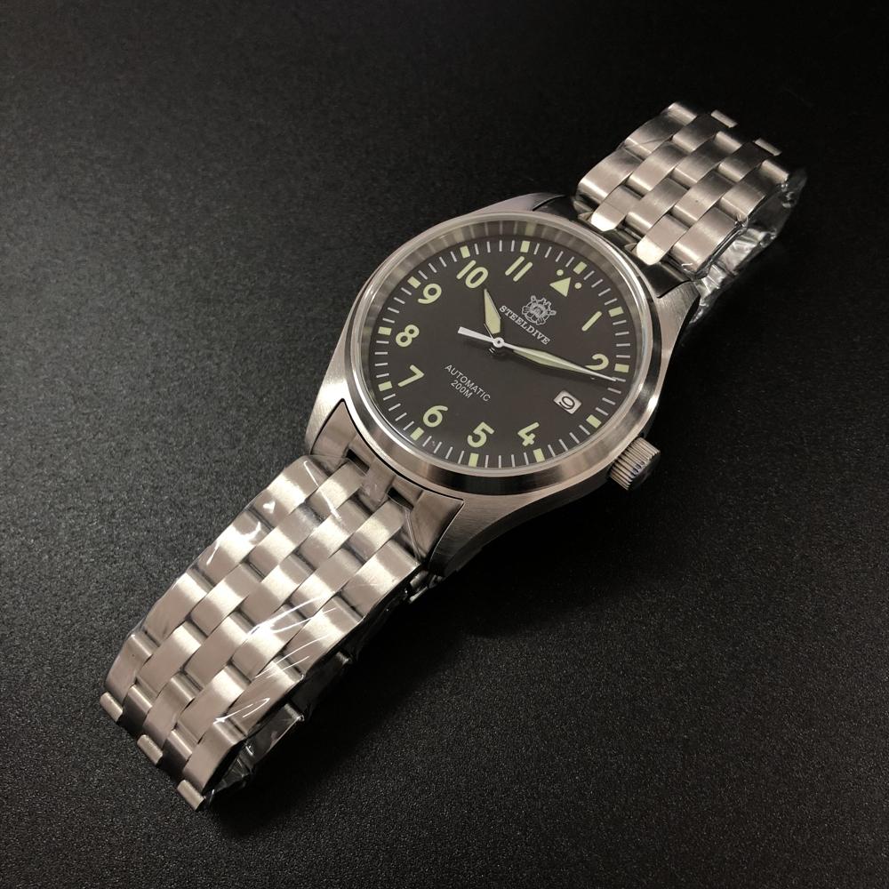 "Steeldive SD1940 Flieger-A 200m Pilot's watch - The ""MK XVIII"" Homage"
