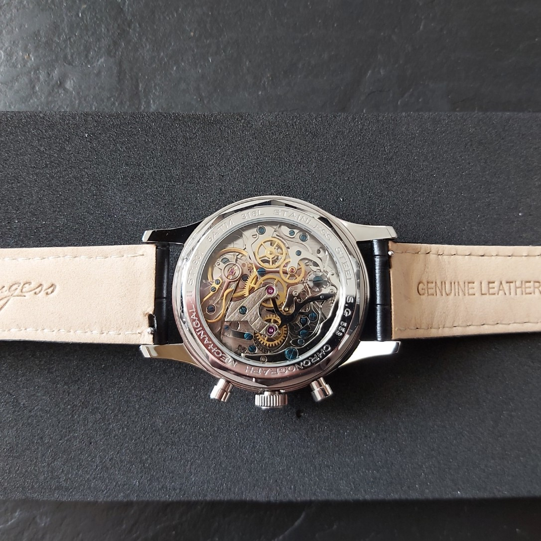 Sugess Chrono Heritage SUPANK005SN: Champagne & Gold: 40mm