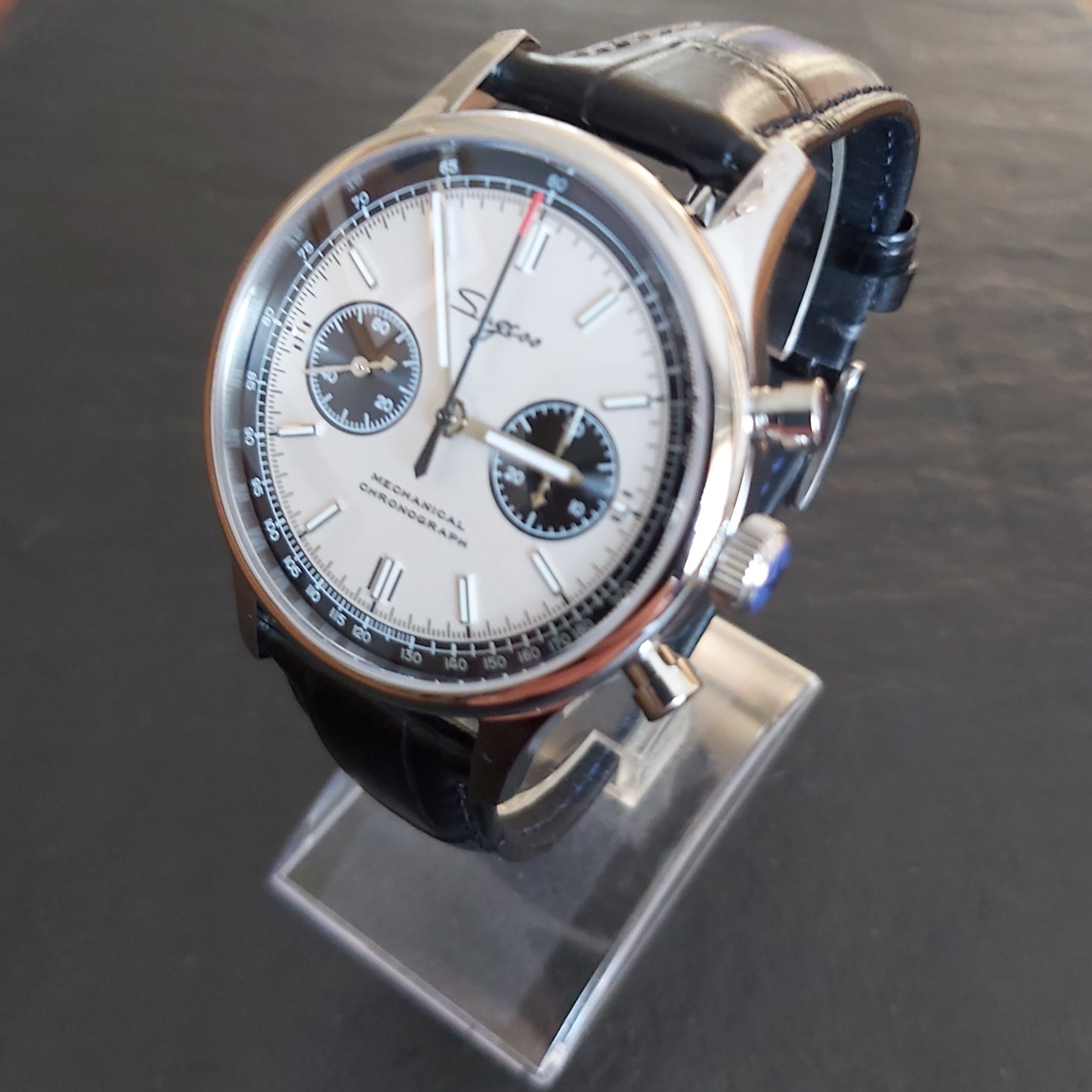 Sugess Chrono Heritage SUPANK004SN: White & Silver 40mm