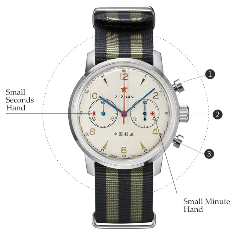 Red Star Seagull 1963 ST1901 Chronograph: CLASSIC 42mm