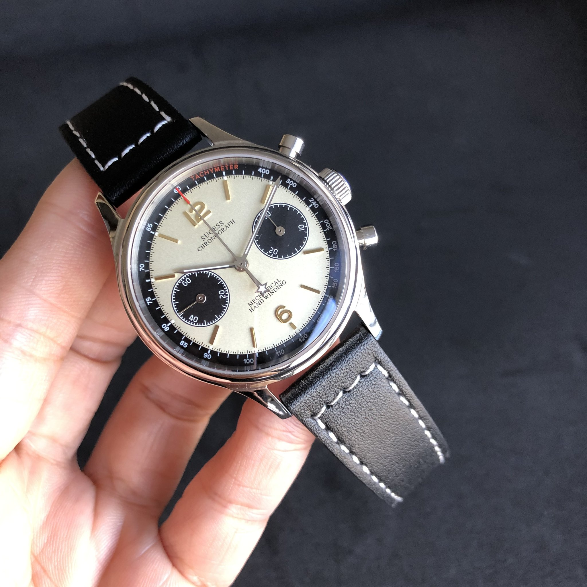 Sugess Chrono Heritage series in White, Champagne and Black