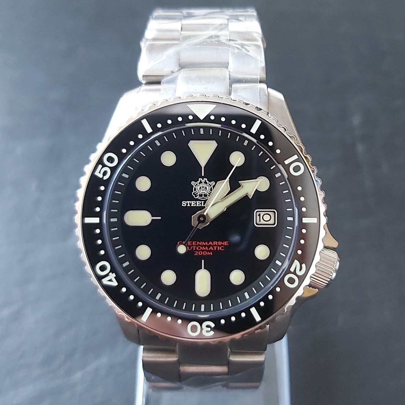 "Steeldive SD1996AC UPGRADED 200m NH35 Diver's Watch - The ""SKX"" Homage"