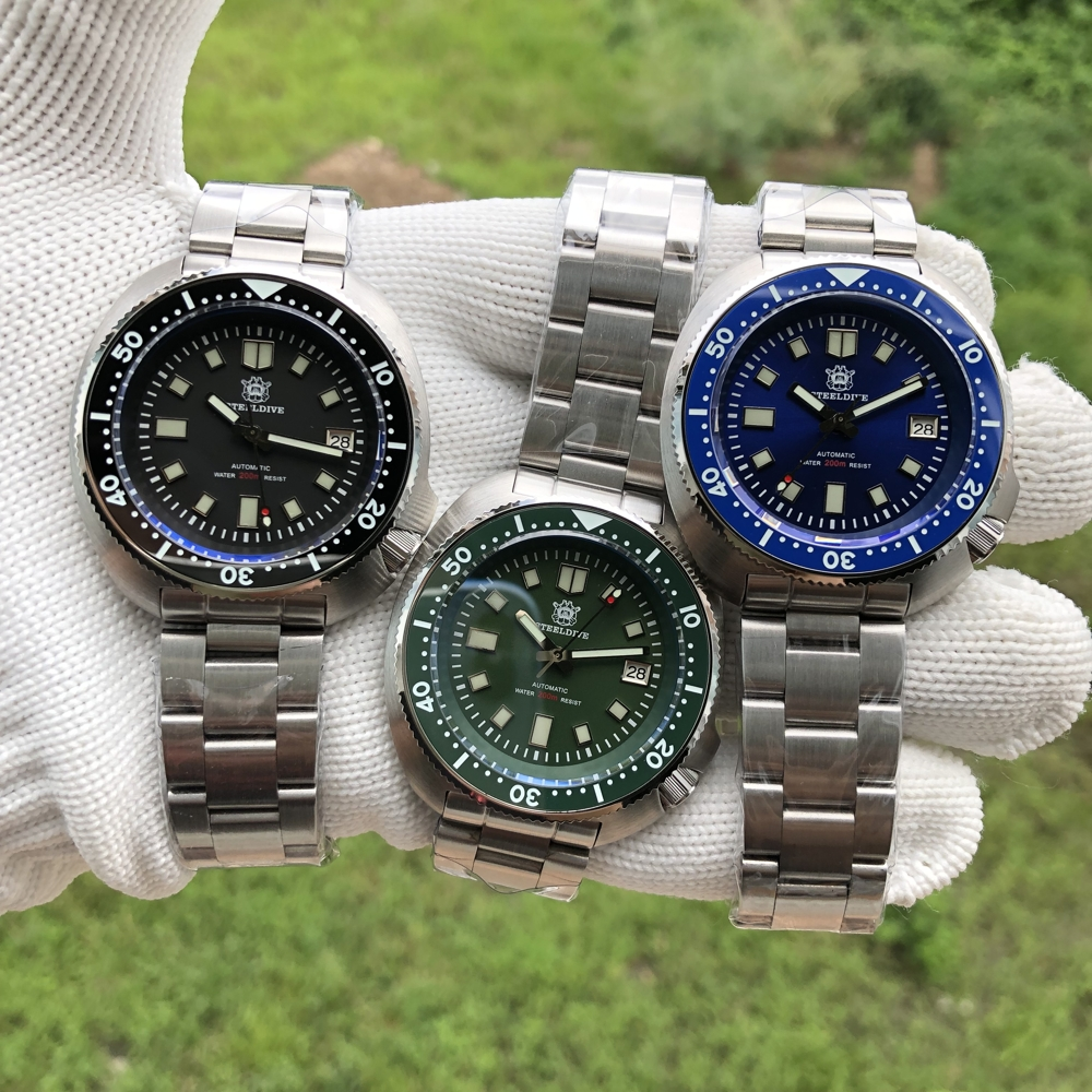 "SteelDive SD1970 2020 Version Diver's Watch - The Cpt Willard 6105 ""TURTLE"" Homage"