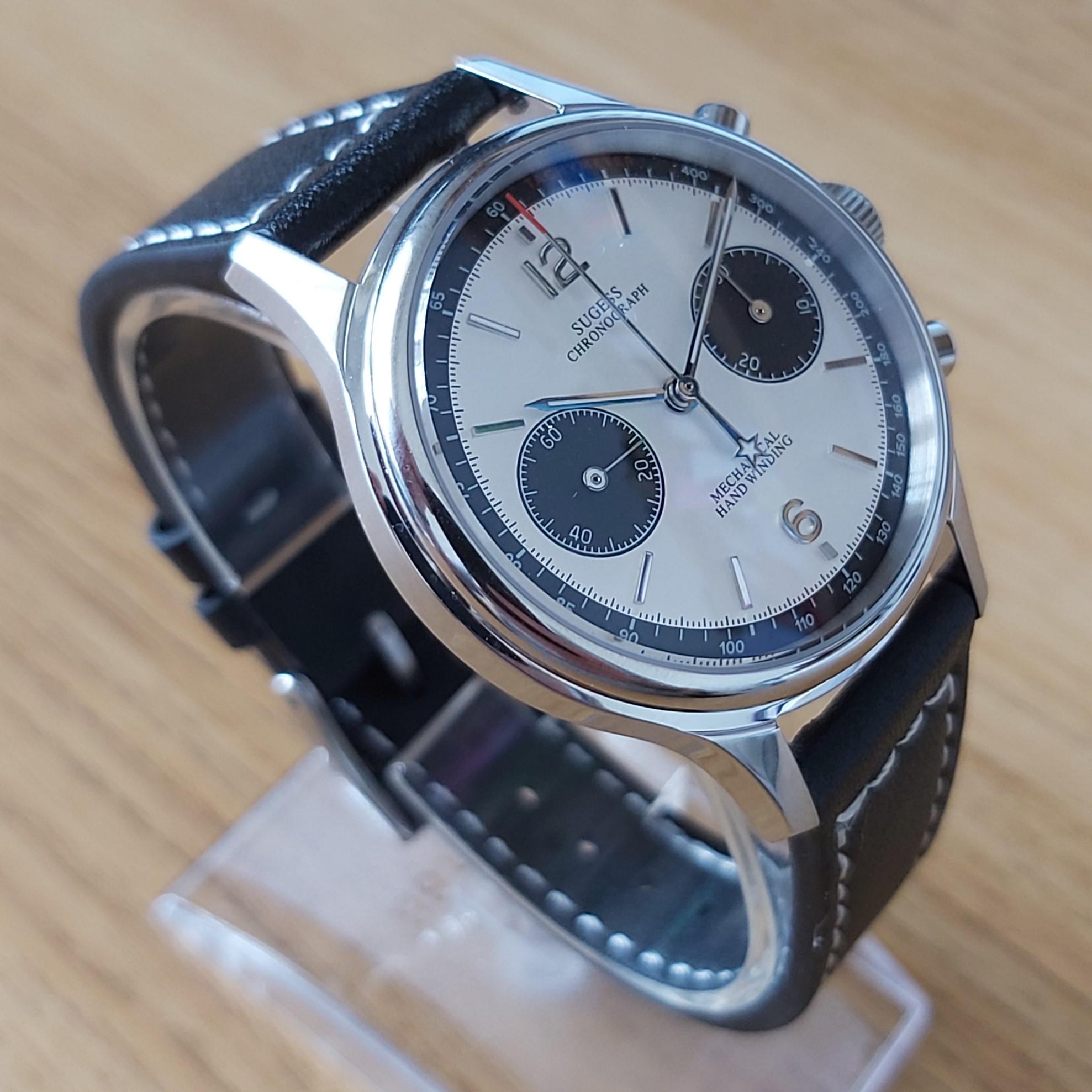 Sugess Chrono Heritage SUPAN001SN: White & Silver 38mm