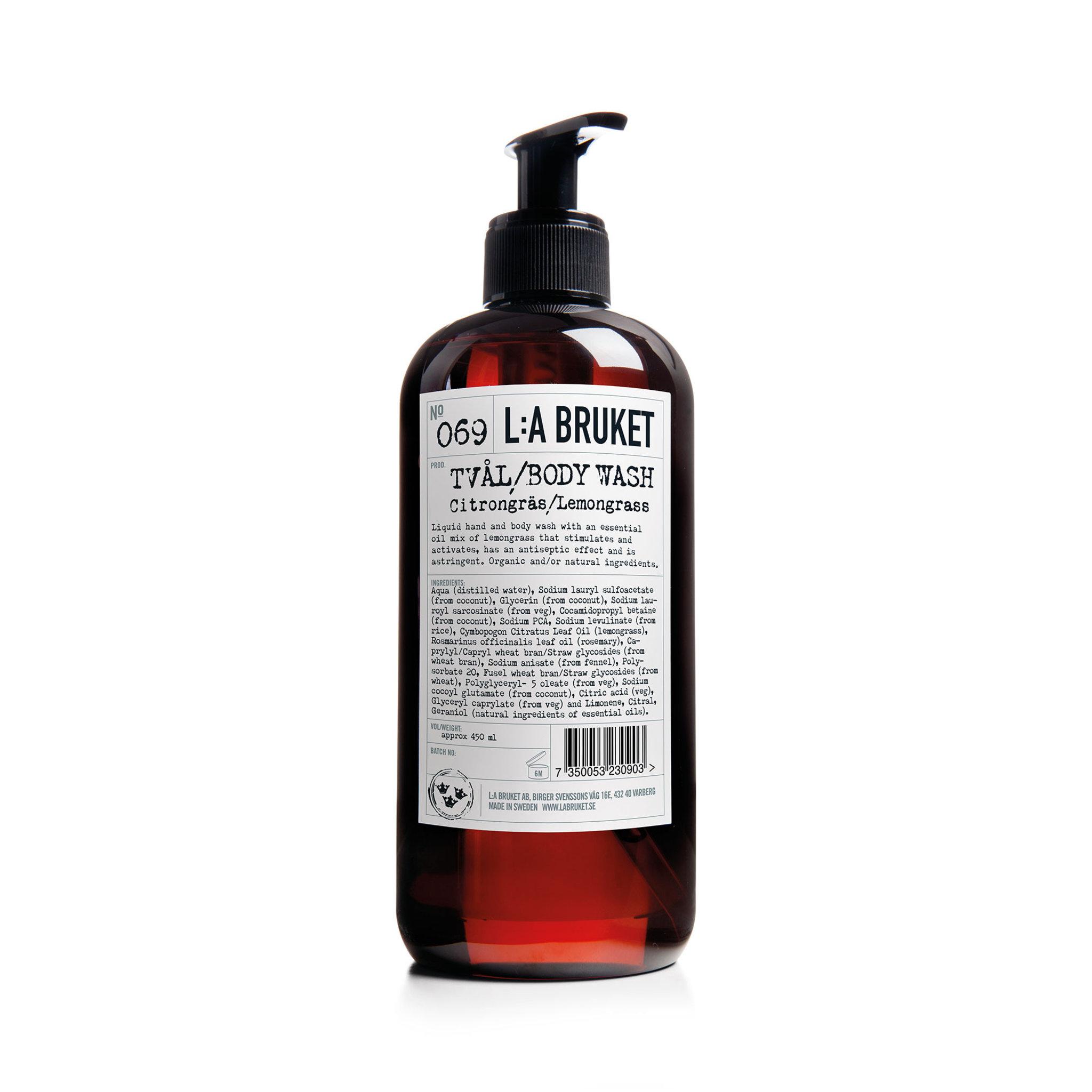 L:A Bruket Tvål Citrongräs 069,  450 ml