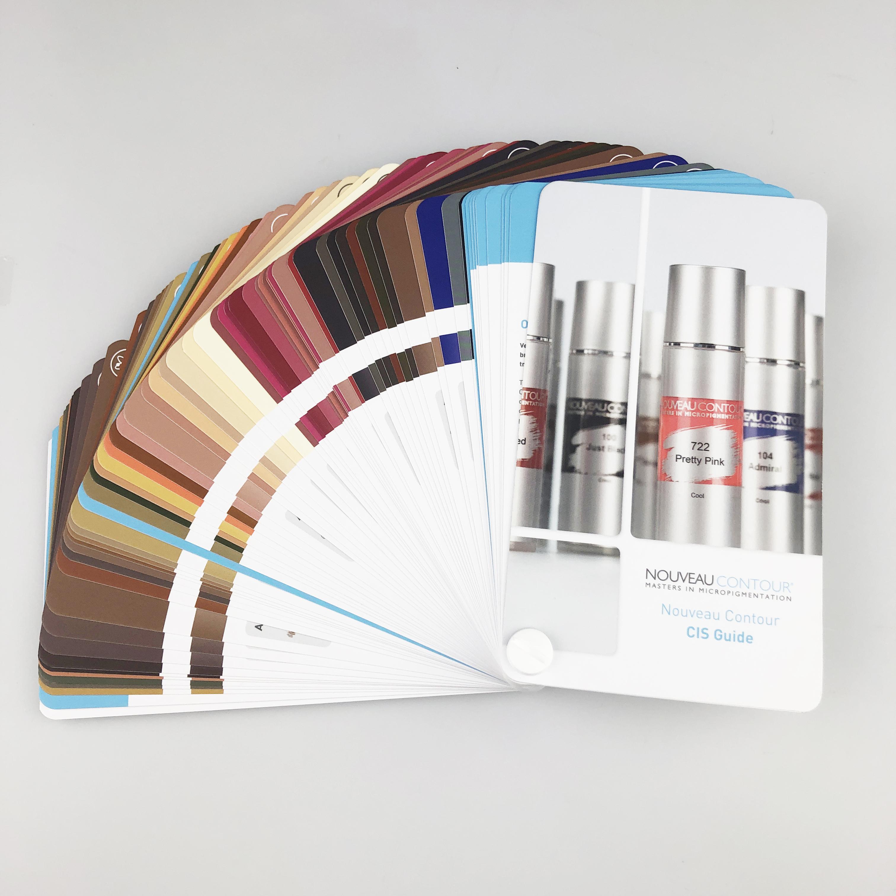 Färgkort CIS för Nouveau Contours pigment