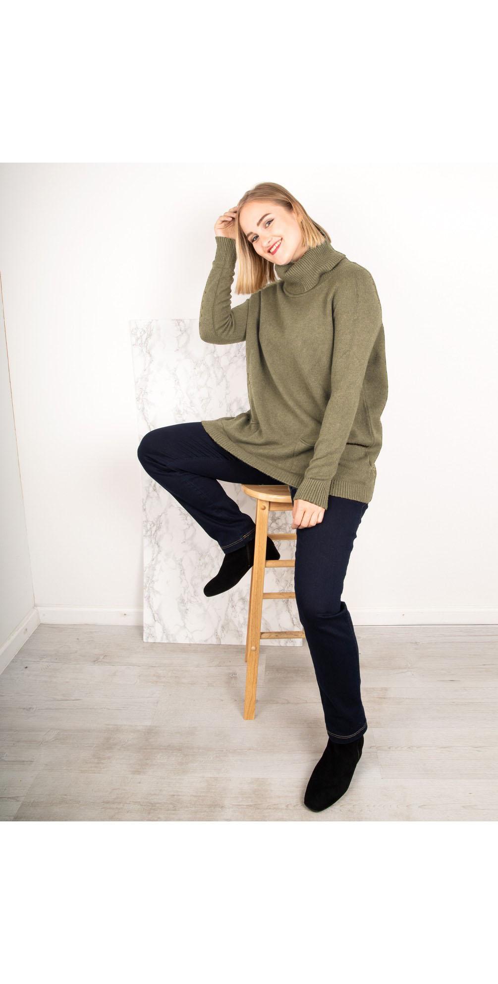 Khaki - Anna Sweater