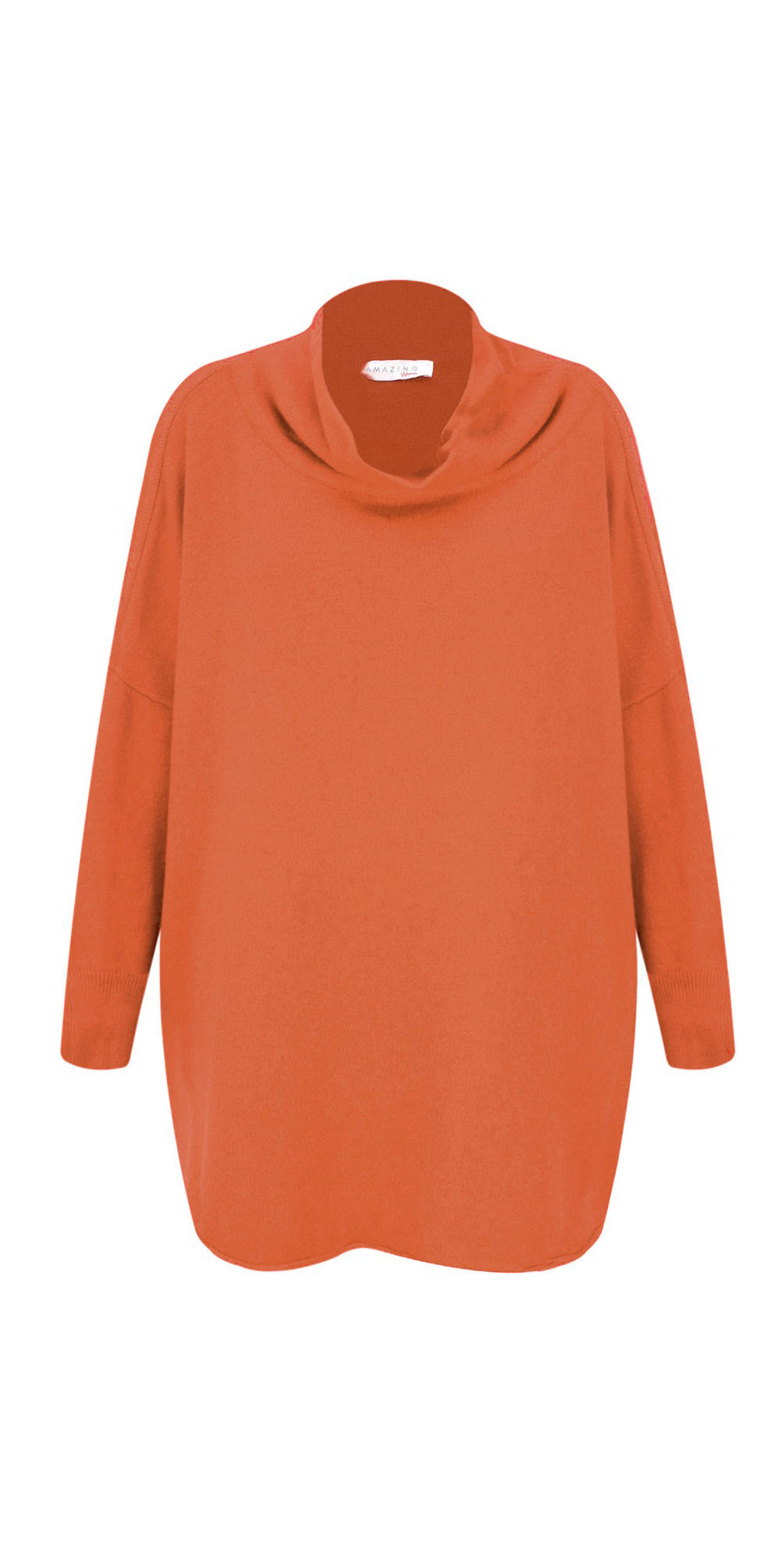 Pumkin- Vera Funnel Neck Sweater
