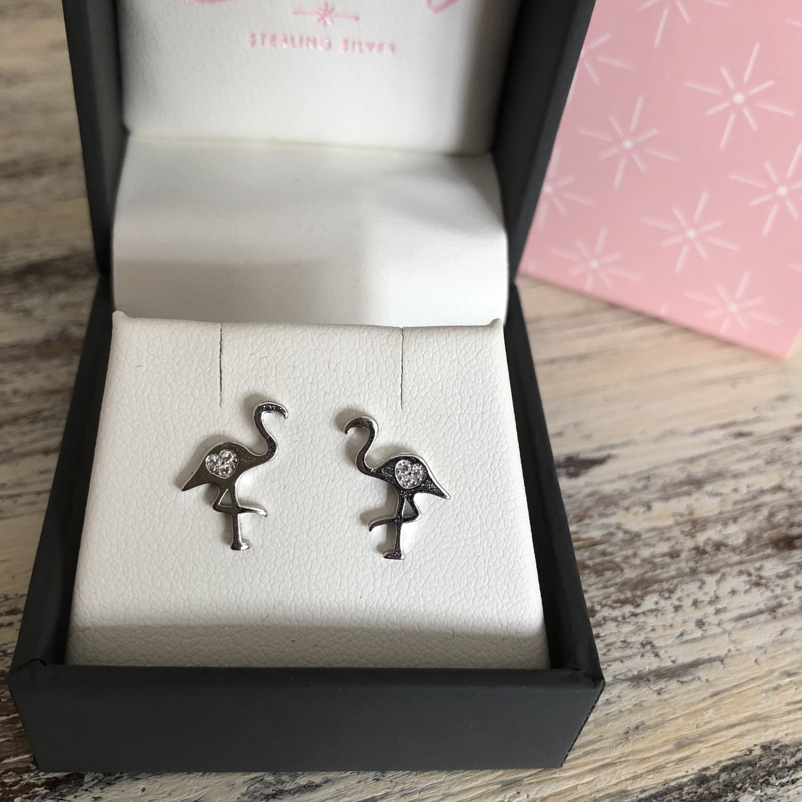 925 SILVER FLAMINGO STUD EARINGS