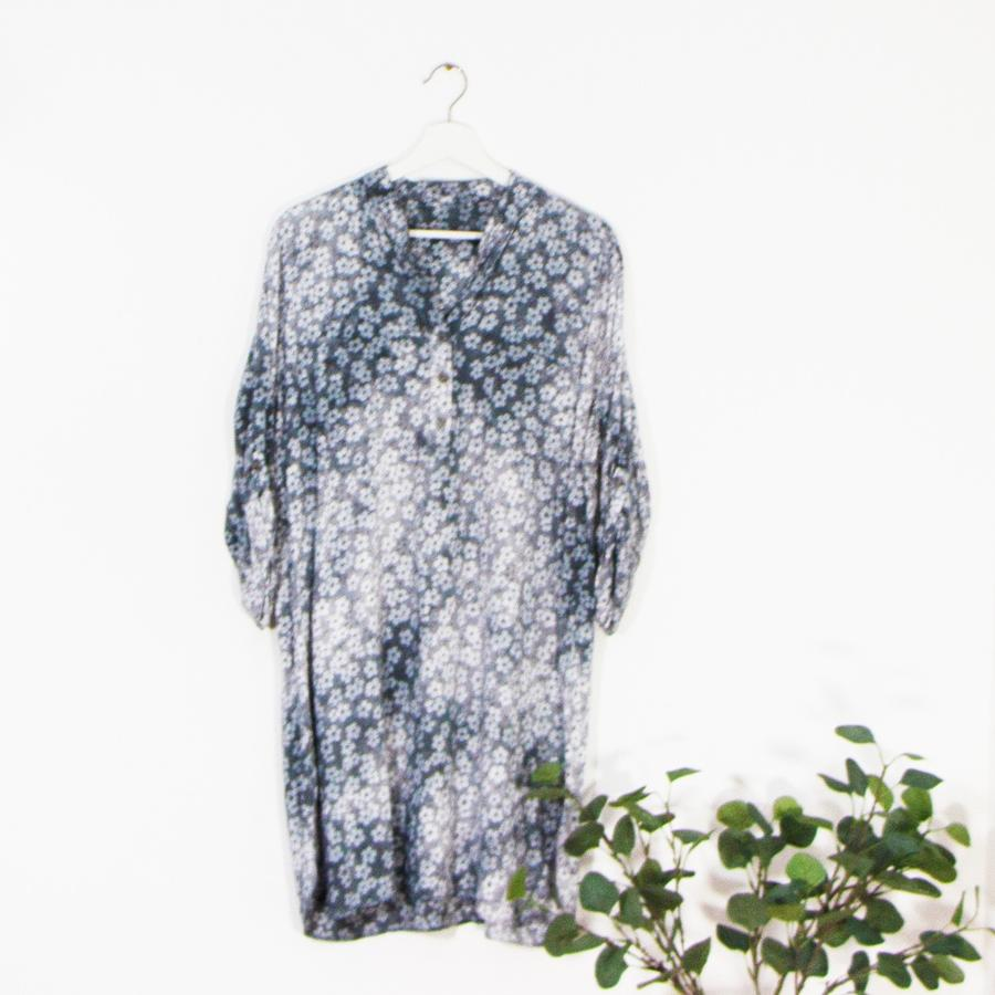 Vintage Wash Multi Flower Print Dress