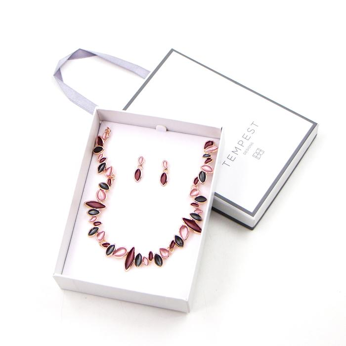 ENAMEL PETAL STYLE COMPONENTS NECKLACE SET