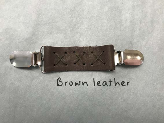 Leather Clip Brown