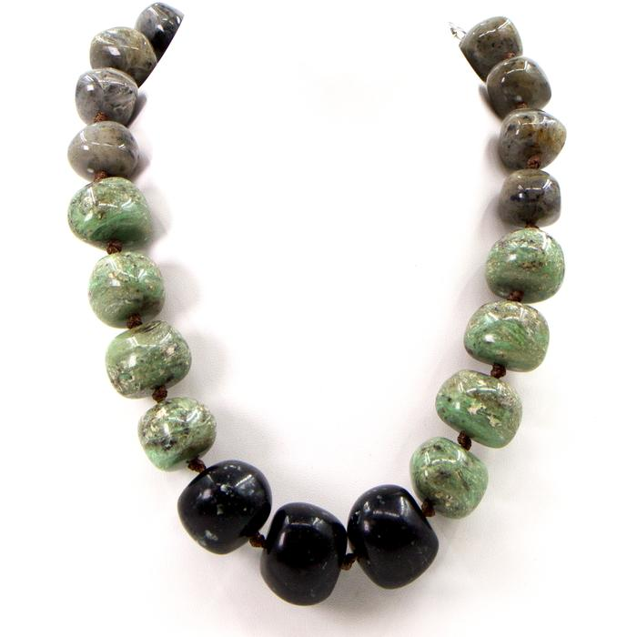 RESIN BEADED CHUNKY NECKLACE