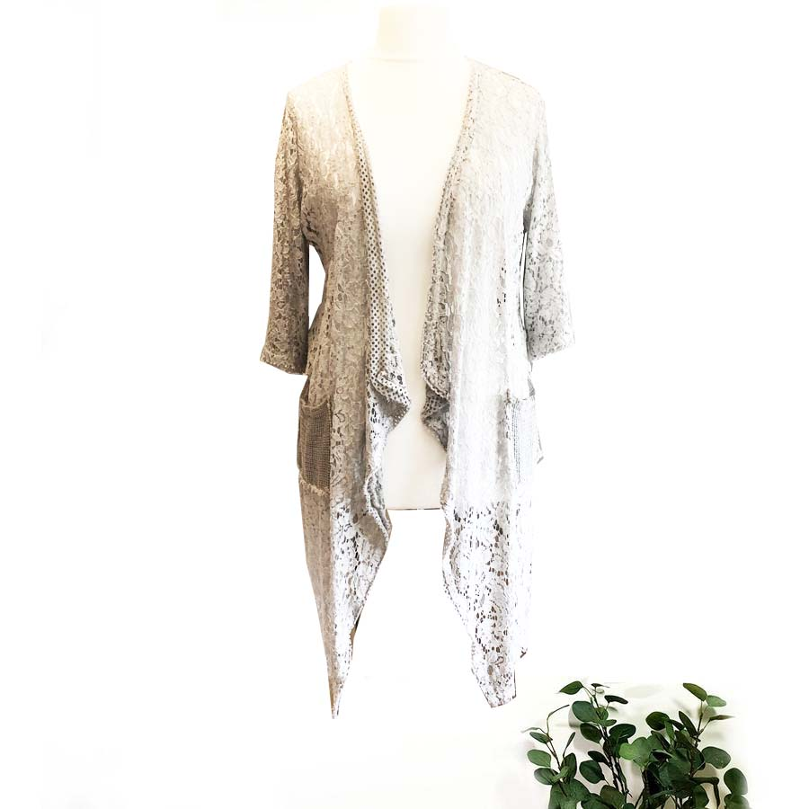 SALE WAS £48 NOW £20 Lace Waterfall Jacket
