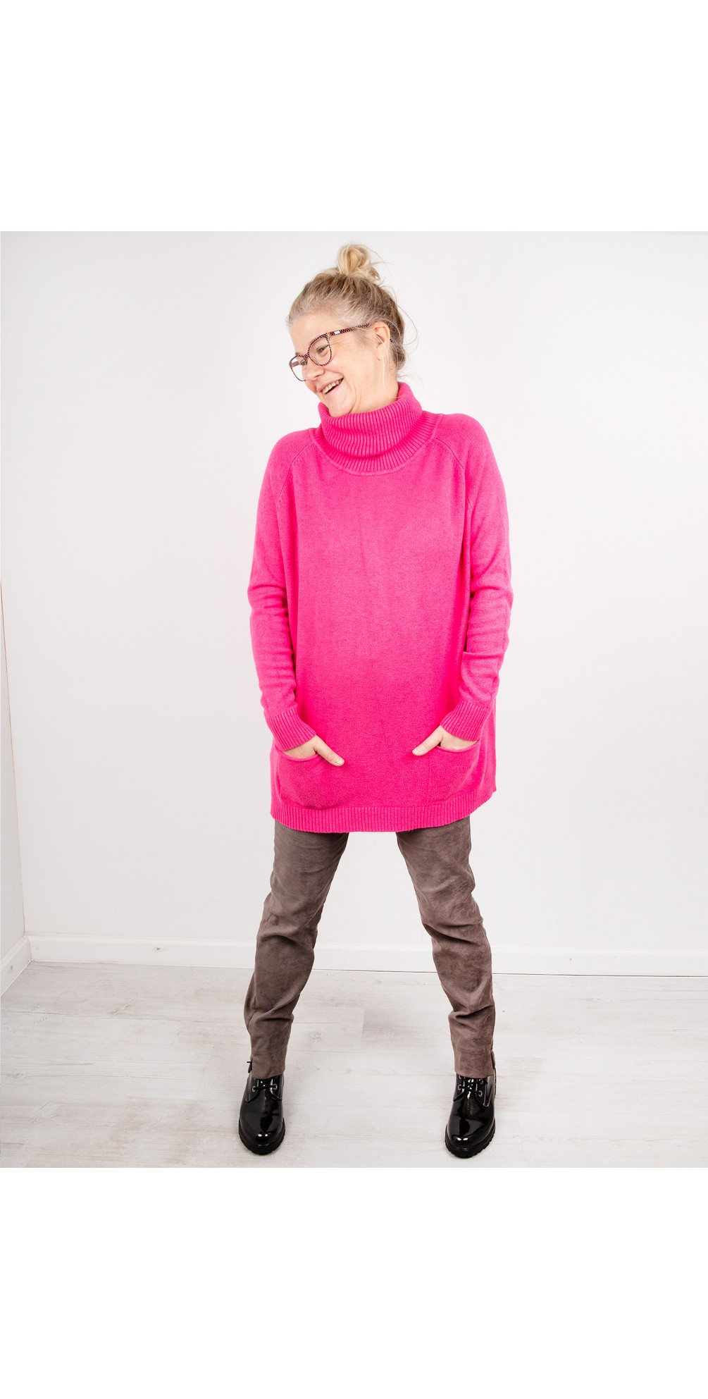 Fushia Pink - Anna Sweater