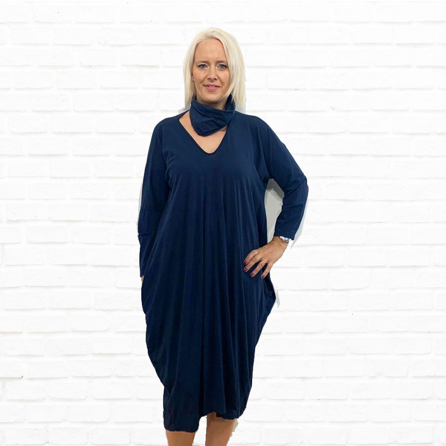 SALE WAS £33 NOW £20 Jersey Dress With Detachable Cowl