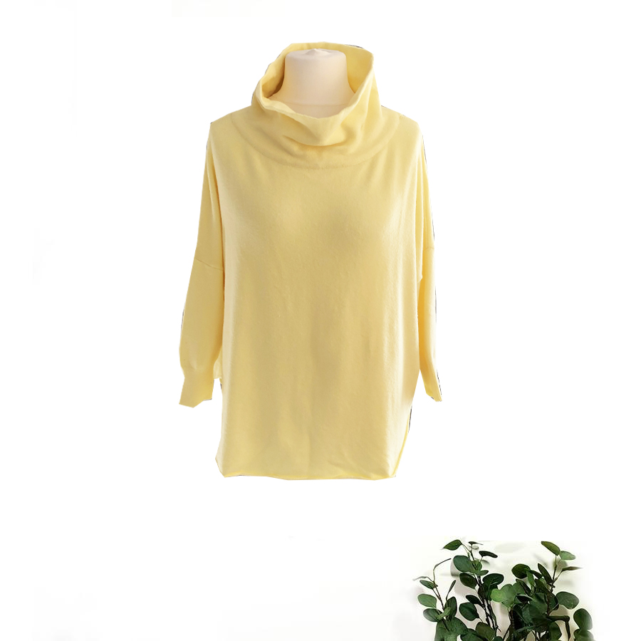 Amazing Woman Funnel Neck Sweater In Colours