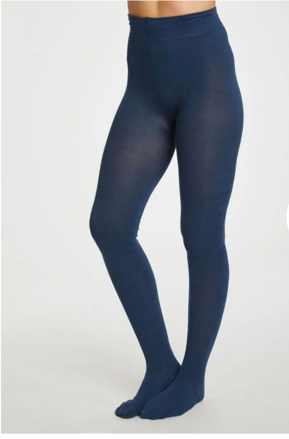 Bamboo Petrol Blue Tights