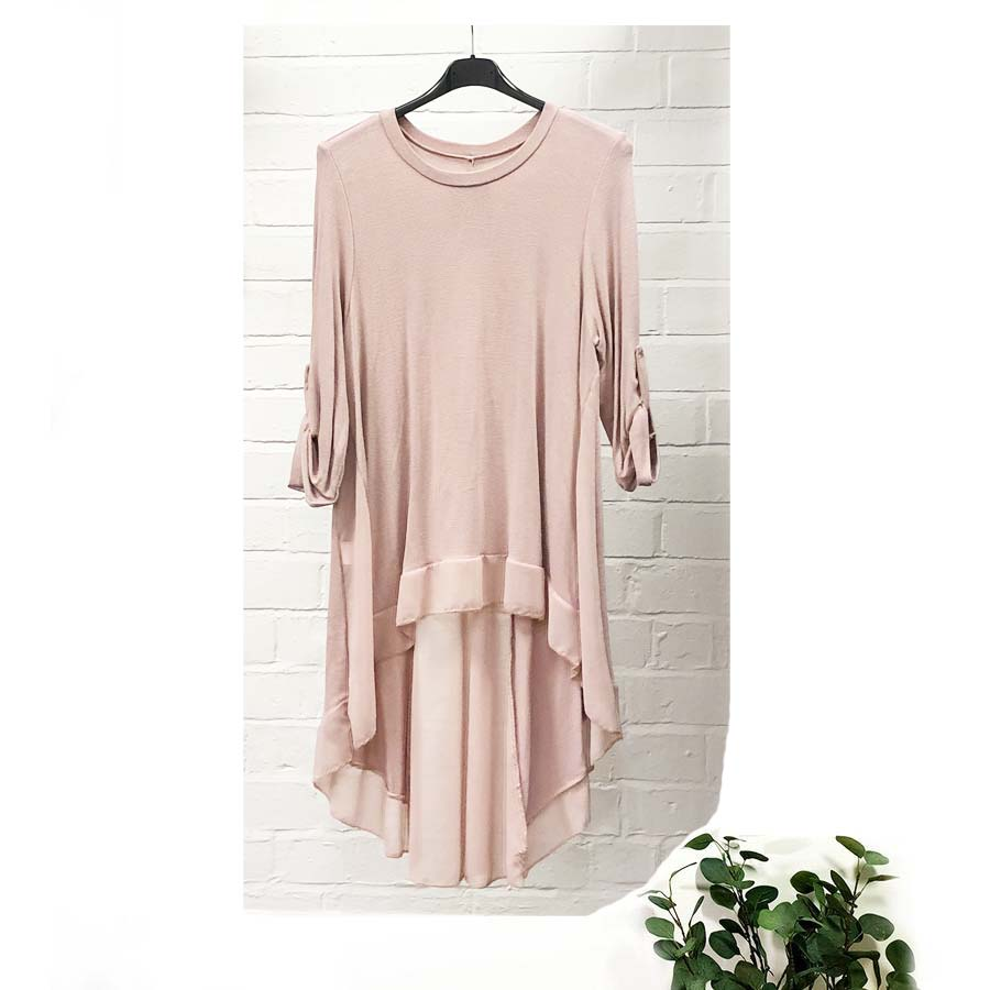 Long Back Chiffon Insert