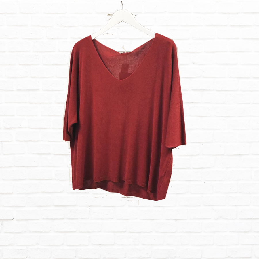 Simple V Neck With Dolman Sleeve