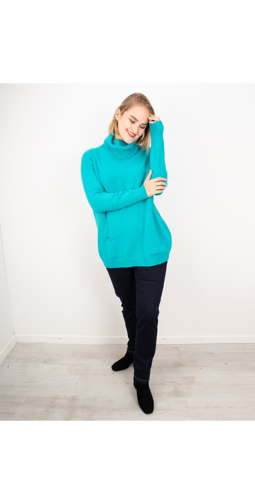 Bright Teal - Anna Sweater