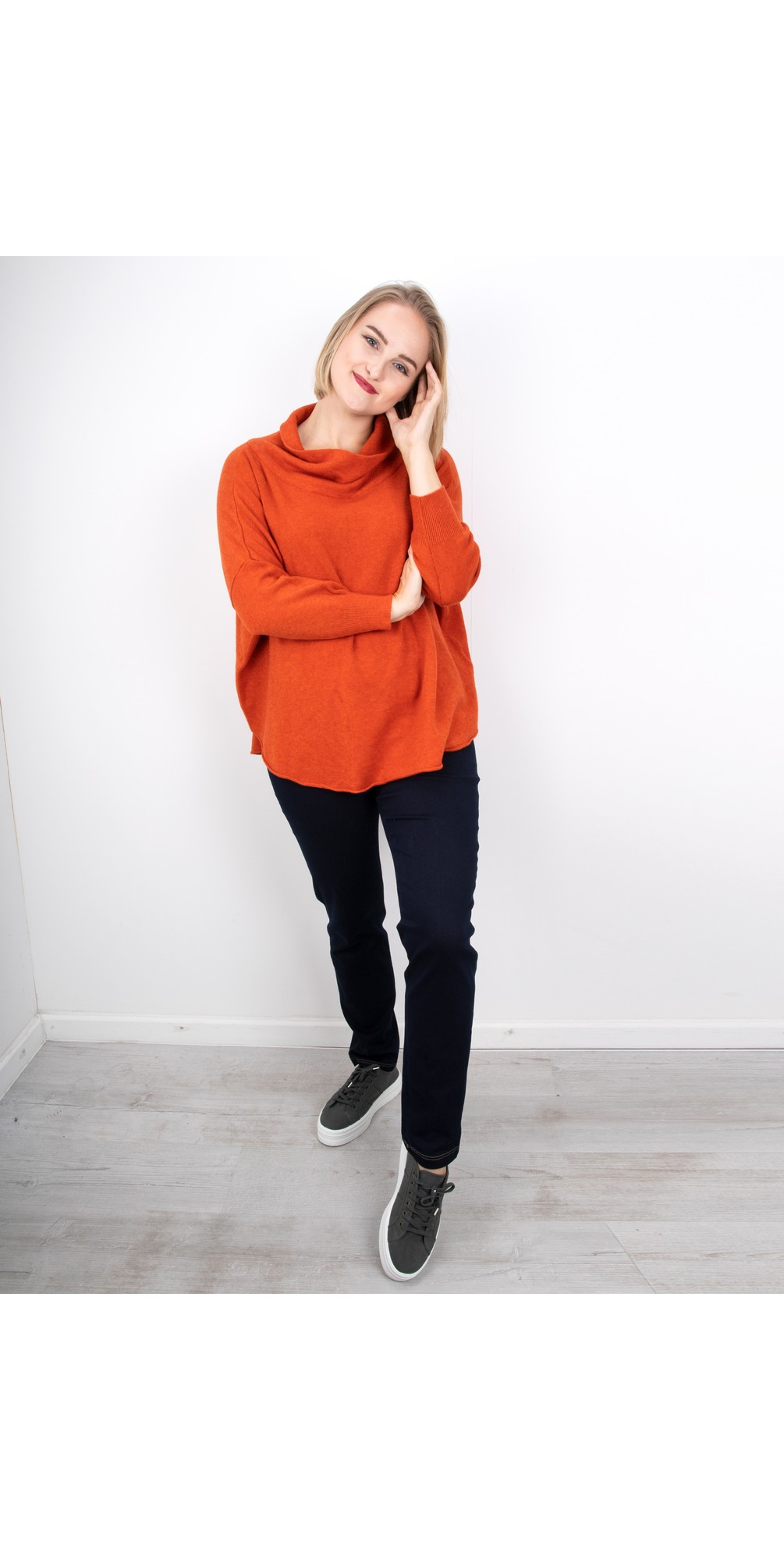VERA Funnel Neck Sweater In Colours - Amazing Woman
