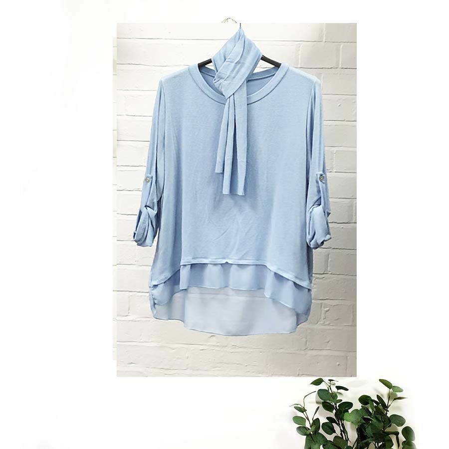 Button Back Top Various Colours
