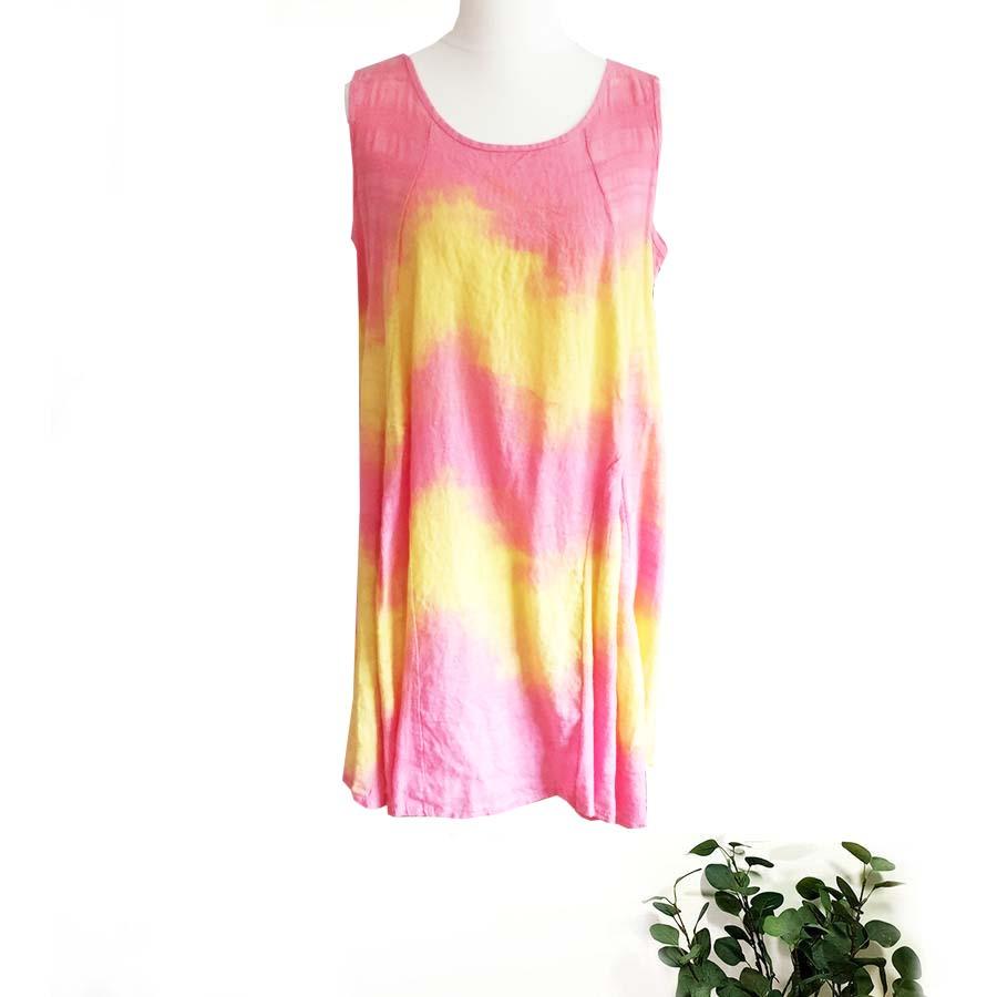 Linen Cotton Mix Tye Dye Tunic