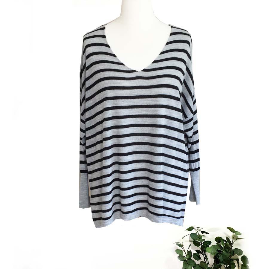 Striped Fine Knit