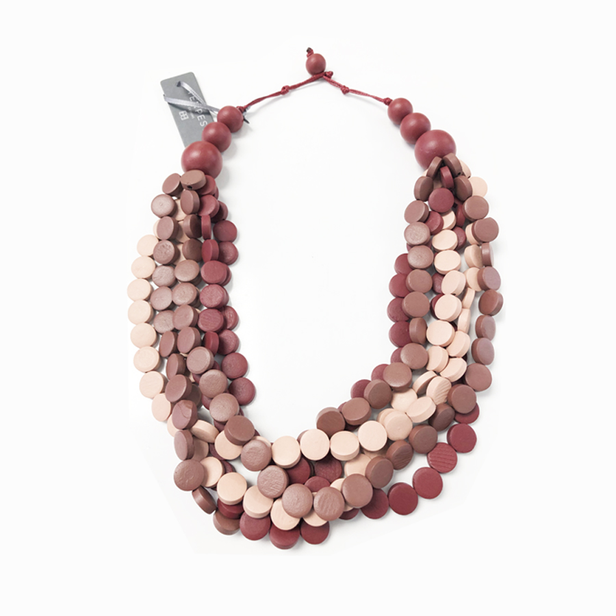MULTISTRAND BUTTON WOOD BEADS IN A CHOICE OF COLOURS