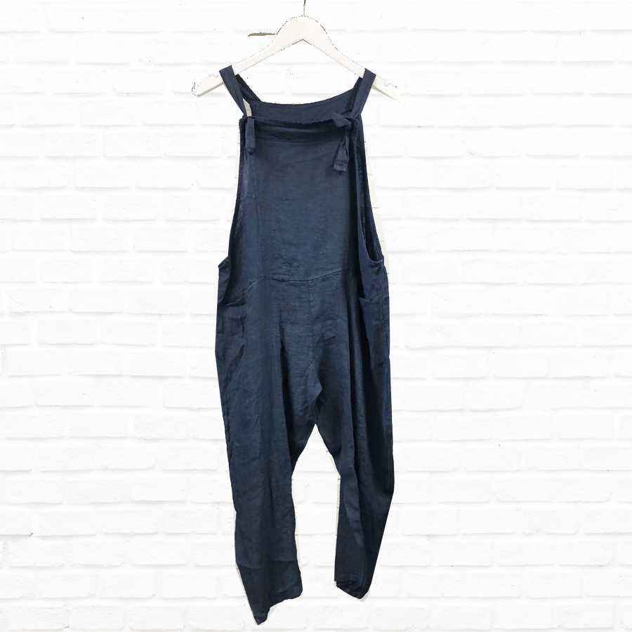 Pure Linen Dungarees In Various Colours