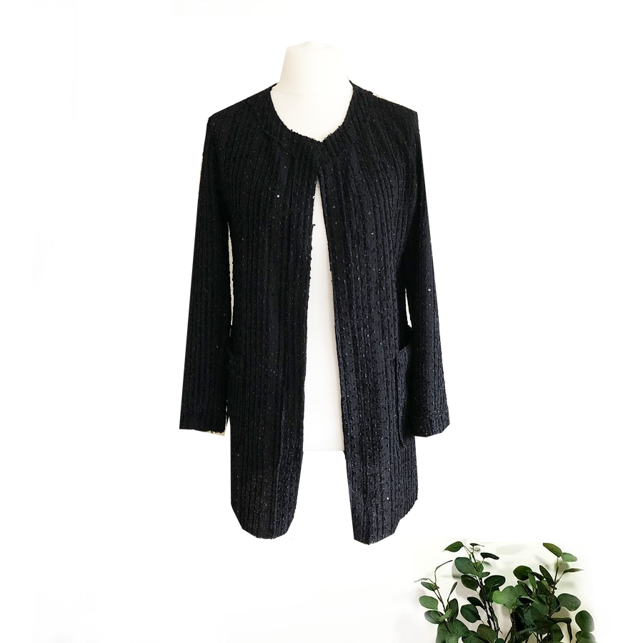 SALE WAS £45 NOW £15 Sparkle Boucle jacket With Sequins