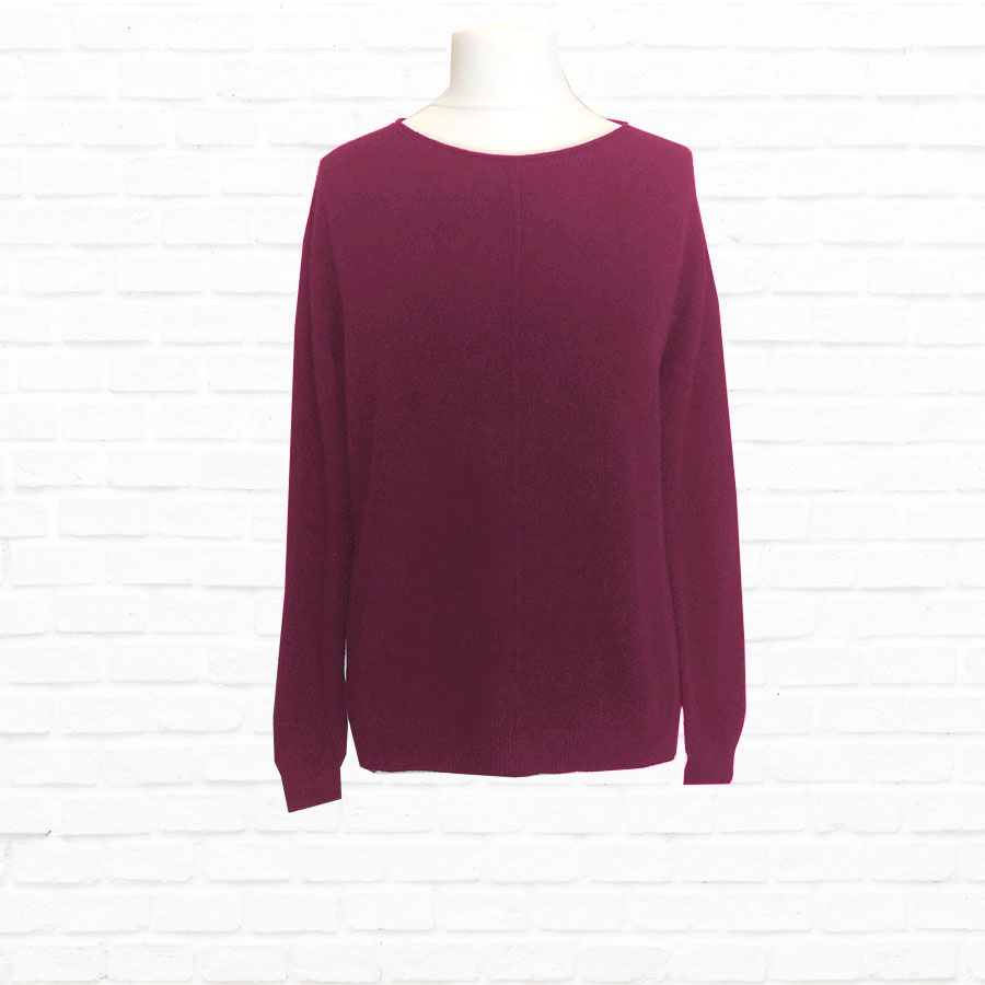 Fine Knit With Seam Detail in A Choice of Colours