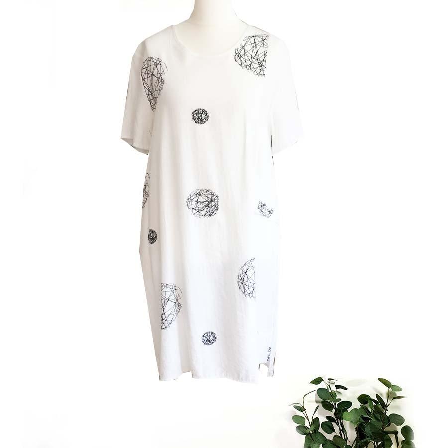 Neslay Circle Print Dress